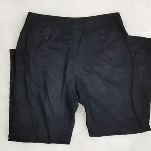 Tommy Bahama Pants - Tommy bahama black drawstring linen pants 12